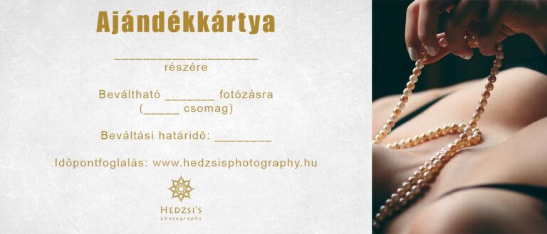 fotós ajándékkártya